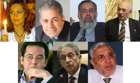 Egyptian possible presidential candidates