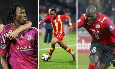 Bakary Kone, Andre Ayew  and Moussa Sow