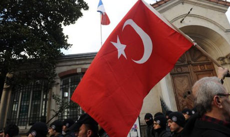 Turkish nationalists protest