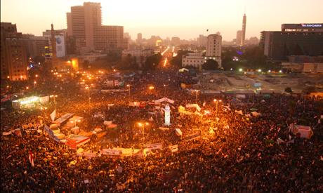 Tahrir Square at sunset