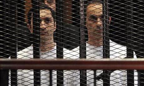 Gamal and Alaa Mubarak