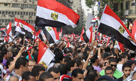 "Egypt for all Egyptians"" Friday : Revolutionary political powers go back again to Tahrir against Mus"