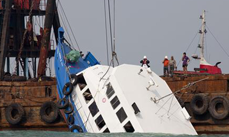 Ferry collision