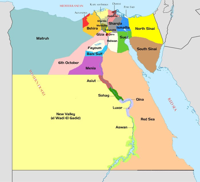 Egypt To Create New Governorates To Push Decentralisation - Map of egypt red sea area