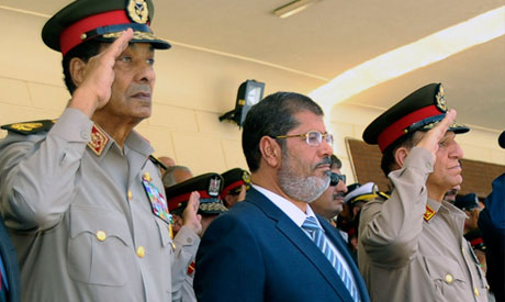 SCAF members with President Morsi