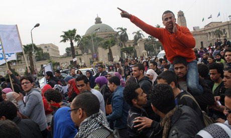 Egyptian students accuse new government charter of restricting campus freedoms