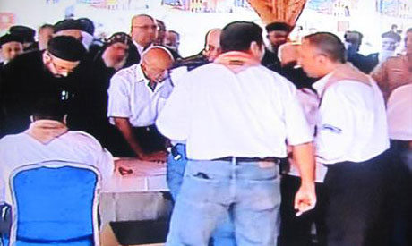 Copts begin casting ballots at election Monday (Photo: A snapshot from video)