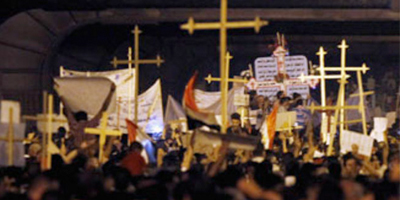 Copt protests at Maspero