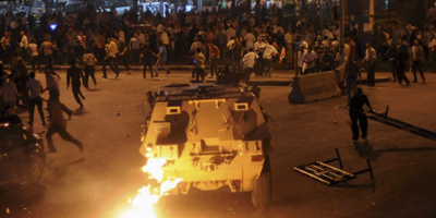 Military vehicles run over Maspero protesters