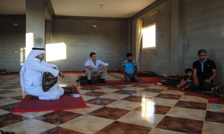 A traditional Bedouin courtroom (Photo: Sarah El-Rashidi)