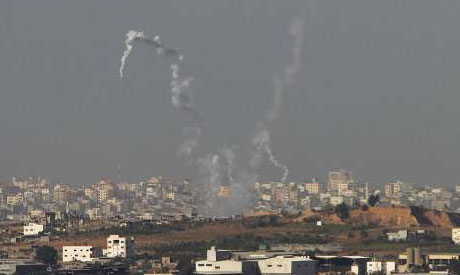 Rocket leaving Gaza