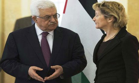 Mahmoud Abbas and Eveline Widmer-Schlumpf