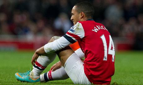 Walcott misses Montpellier match with injured shoulder