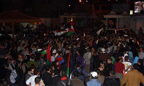 Minutes after the convoy reached Gaza Al-Shifaa Hopsital, Sunday (Photo: Nada El-Kouny)
