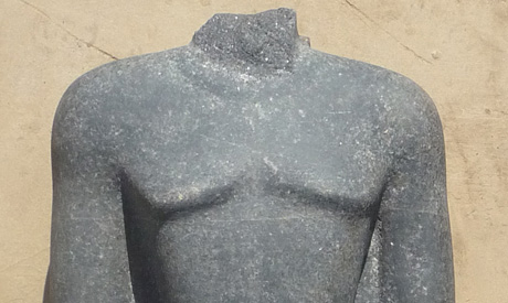 part of the statue after cleaning