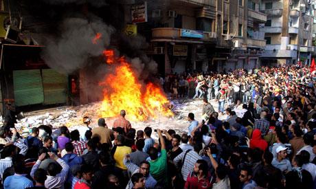 MB headquarter burning in Alexandria
