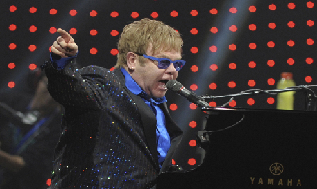 Pop icon Elton John performs in Beijing, Nov. 25, 2012. Photo: AP