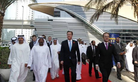 Cameron in the UAE
