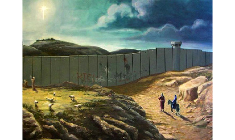 Christmas card designed by Banksy