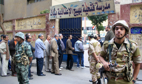 A polling centre in Cairo