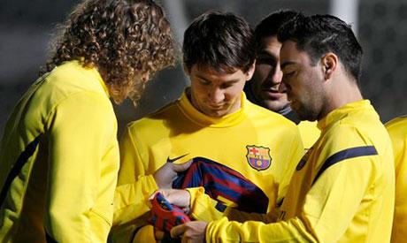 Puyol, Xavi and Messi