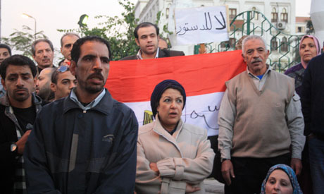 Demonstration against draft constitution