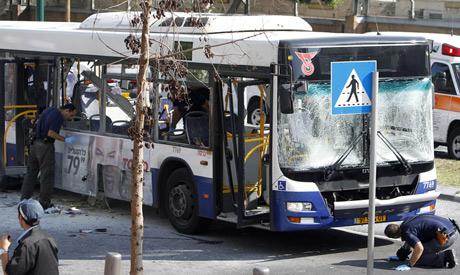 Bomb Explosion on Tel Aviv Bus