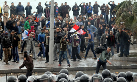 Islamist rally turns violent outside Alexandria mosque