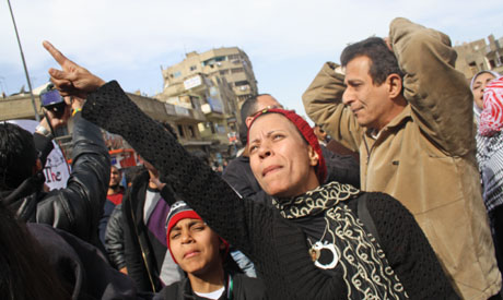 Protesters gather in Shubra for MOD march