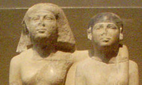 the statue of Hetepheres and Mersankh