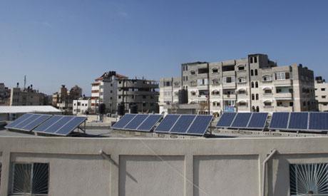 Gaza solar panels