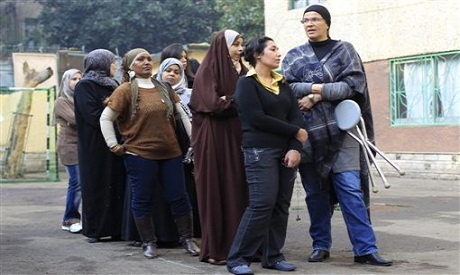 Egyptian women voting in the last parliamentary elections