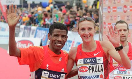 Haile Gebrselassie and Paula Radcliffe