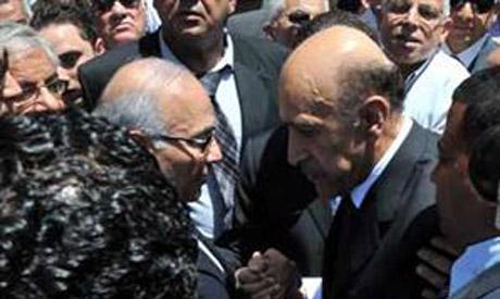 Ahmed Shafiq at funeral