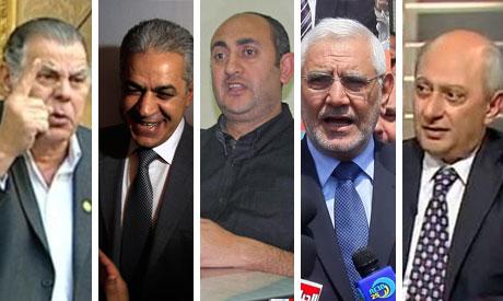 Elhariri, Sabahi, Khaled ali, Abu El Fatouh, Bastawisi