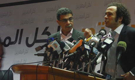 Amr Hamzawy and Gamal Fahmy