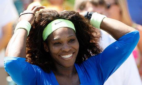 Serena Williams smiles