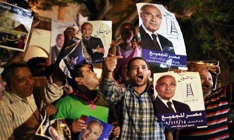 Supporters of former prime minister Ahmed Shafiq celebrate in Cairo (Photo: Reuters)