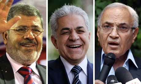 Morsi, Shafiq and Sabbahi