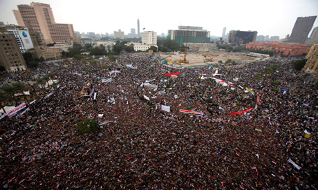 Tahrir square packed by Thousands of Egyptians