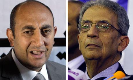 Khaled Ali and Amr Moussa