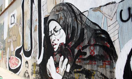 New layer of Graffiti on Mohamed Mahmoud (Photo: Rowan El Shimi)
