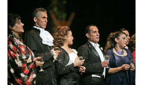 Arias performed at the Cairo Opera House in Sep 2011