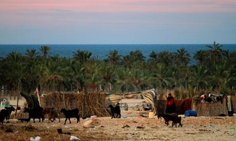 north of Sinai