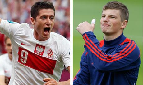 Lewandowski vs Arshavin