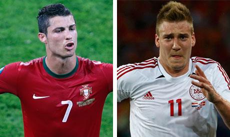 Ronaldo and Bendtner