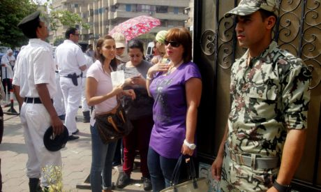 Egyptians queued to choose a new leader on Saturday in the first free presidential election in their