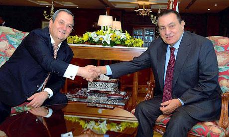 Mubarak and Ehud Barak