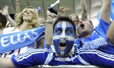 Greek supporter