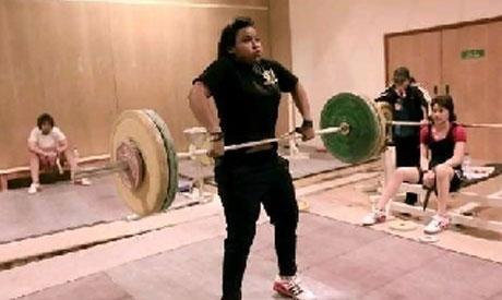 Weightlifter Khadija Mohammad